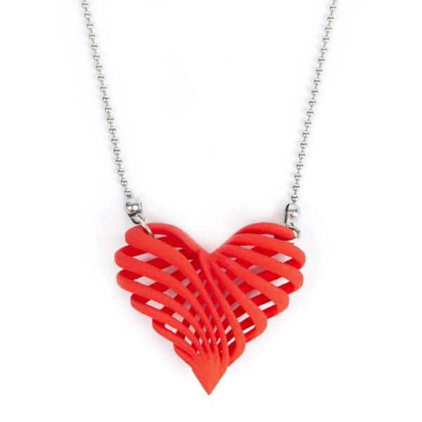 3D geprint hart ketting - 3d printed heart / necklace