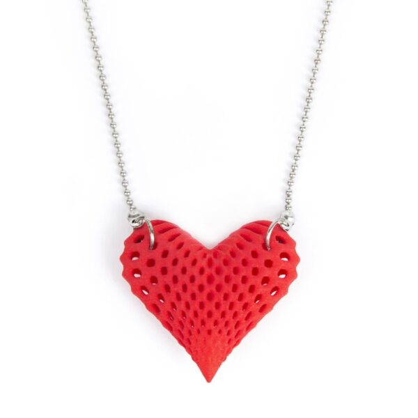3D geprint hart ketting - 3d printed heart / necklace