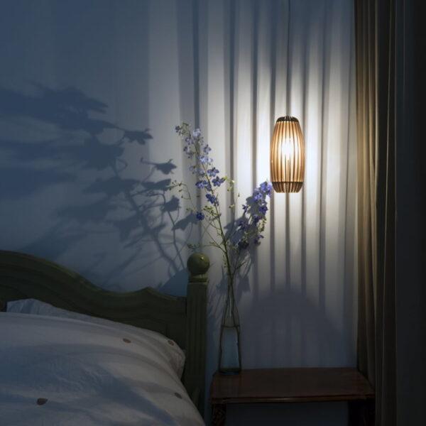 houten lasergesneden lamp - wooden laser cut lamp
