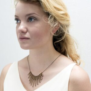 lasergesneden houten ketting / collier - Laser cut wooden necklace / collier
