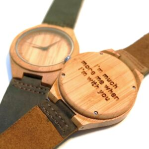 Wooden watch with personal engraving