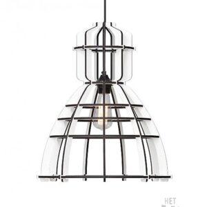 Lichtlab no19XL white Olaf Weller - lasergesneden houten lamp