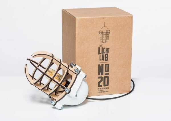 Lichtlab no20 Olaf Weller - 3d geprinte en lasergesneden lamp