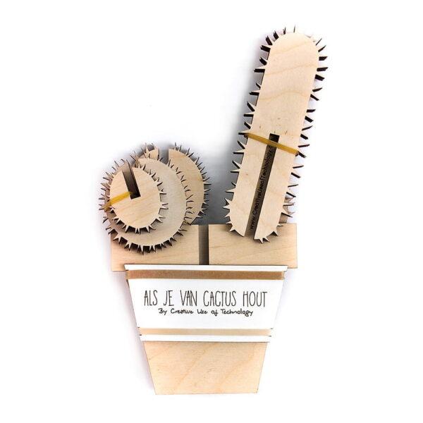 lasergesneden houten cactus / bloemen - laser cut wooden cactus / flowers