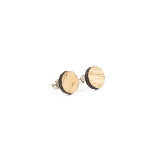 Lasergesneden oorbellen / oorknopjes van kurk, hout, leer / Laser cut earrings / earcuffs made of cork, leather, wood