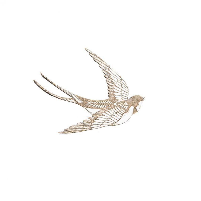 laser gegraveerde houten broche ijsvogel - laserengraved broche