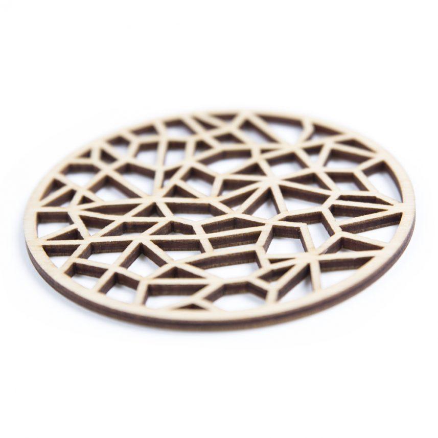 houten lasergesneden onderzetters - laser cut coasters