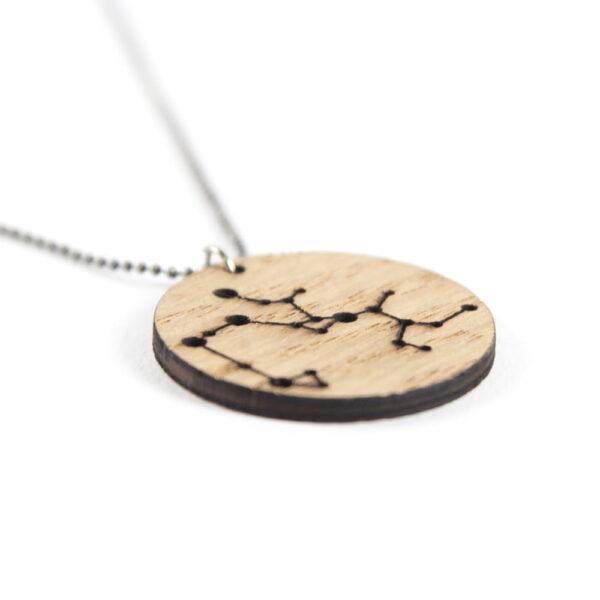 Lasergesneden houten ketting / hanger constellations / sterrenbeeld - Lasercut wooden necklace / pendant constellations