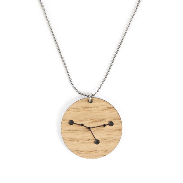 Lasergesneden houten ketting / hanger constellations / sterrenbeeld - Lasercut wooden necklace / pendant constellations