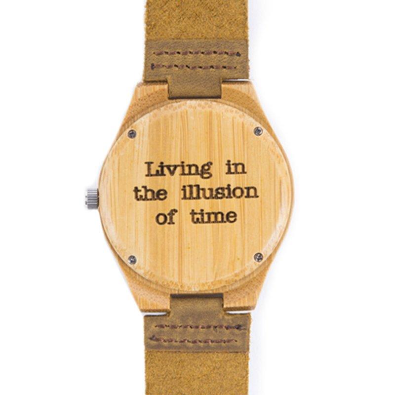 Houten horloge met persoonlijke tekst