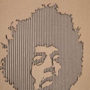 Gegraveerde illustratie lasergesneden - engraved lasercut wall decoration