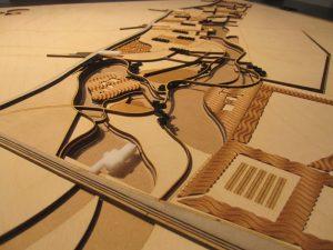 laser cut maquette / lasergeneden houten maquette