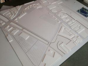 Maan, concept en realisatie – Maquette jaarbeurs terein Utrecht