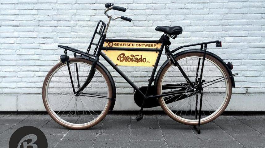 houten fietsbord - gegraveerde fiets bord van hout
