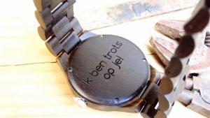 houten horloge Mara Tegendraad