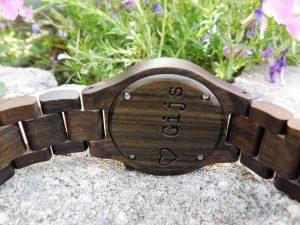 Houten horloge voor vaderdag