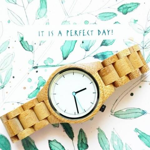 Houten horloge - wooden watch - bamboo watch