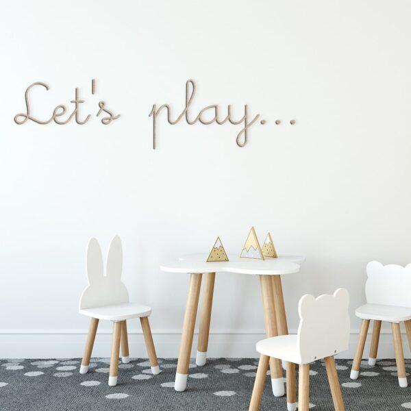 Houten letters - wandtekst - decoratie kinderkamer