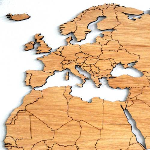 Wood World Map Cut Out.Wooden World Map Oak Unique Wall Decoration For Every Interior