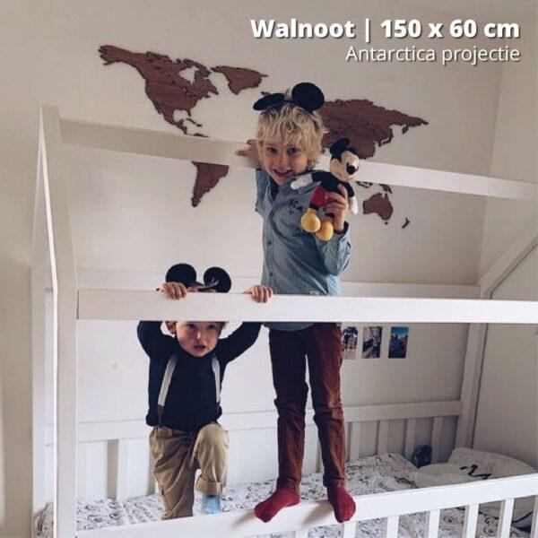 houten-wereldkaart-antarctica-projectie-walnoot-150