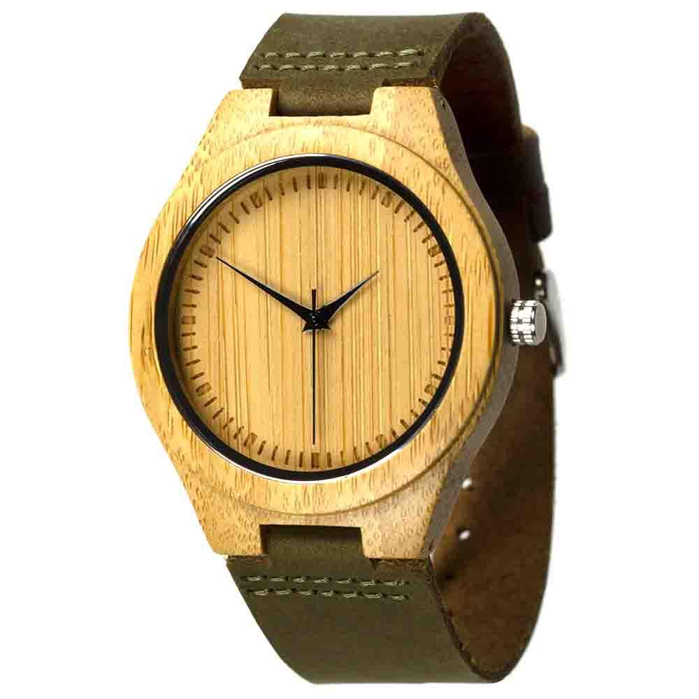 houten horloge amazone bamboe