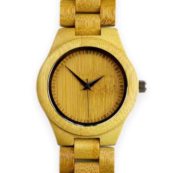 bamboe horloge met schakels