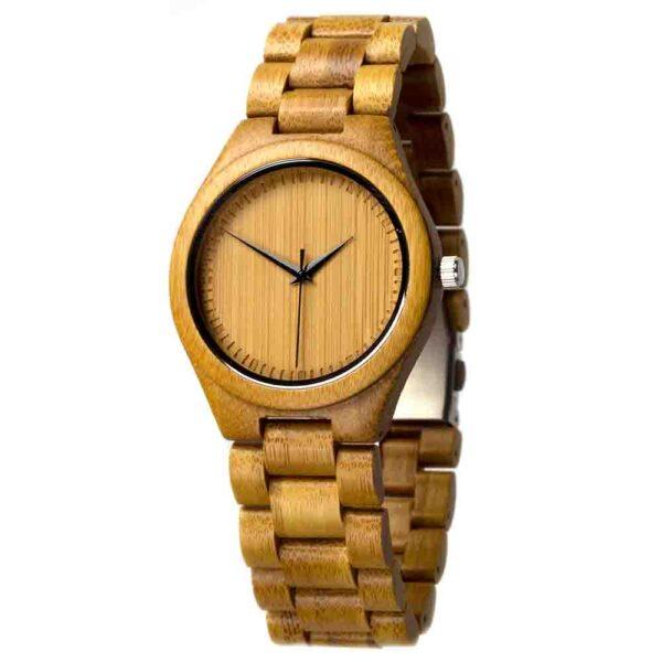 houten horloge andes bamboe