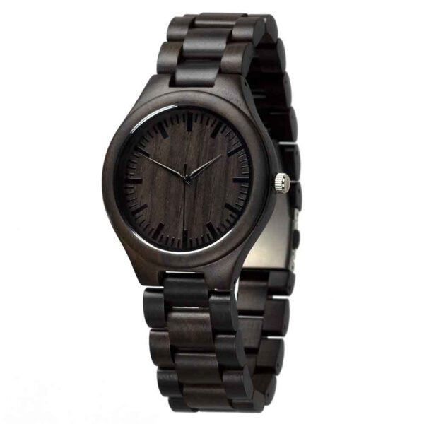 beautiful ladies wooden link watch