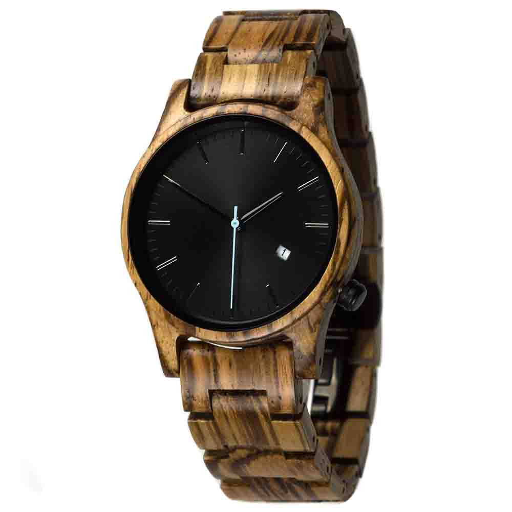 houten horloge gobi zebrano