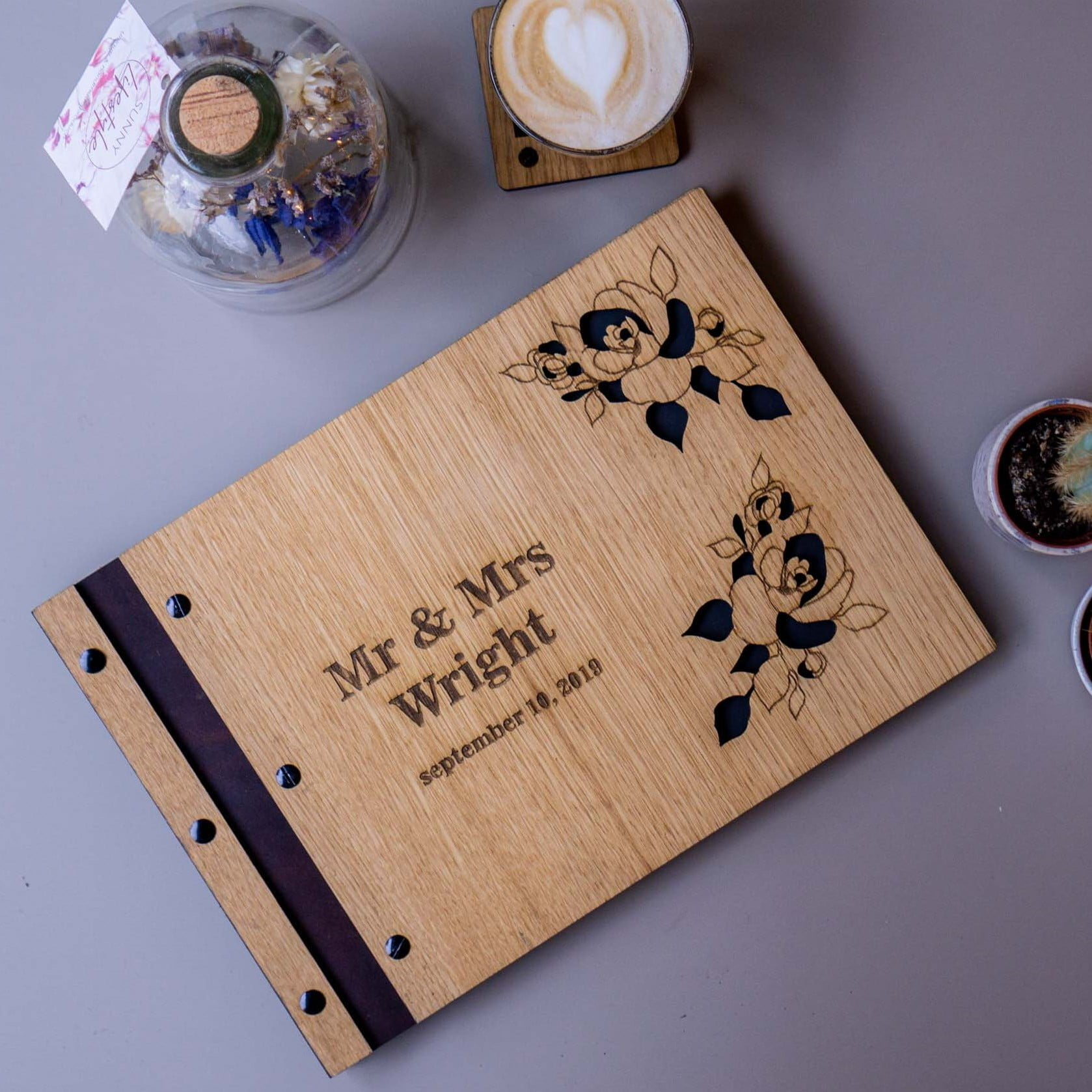 Wooden Wedding Guest Book Creative Use Of Technology