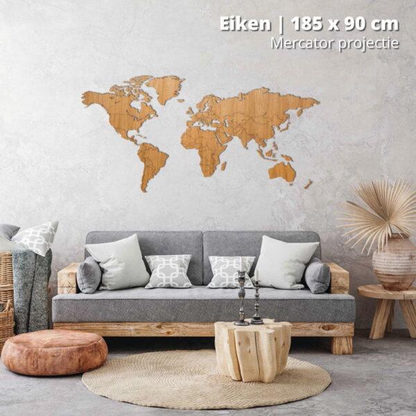 houten-wereldkaart-mercator-projectie-eiken-185-stock