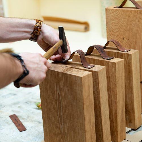 houten hakblok snijplank graveren