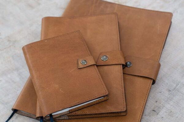 Leren notitieboekje hervulbaar - Maak je eigen design