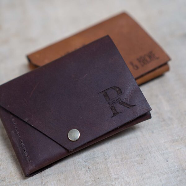 leren portemonnee met eigen ontwerp
