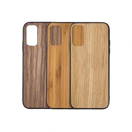 Telefoonhoesje-Bumper-Hout-Samsung-S20