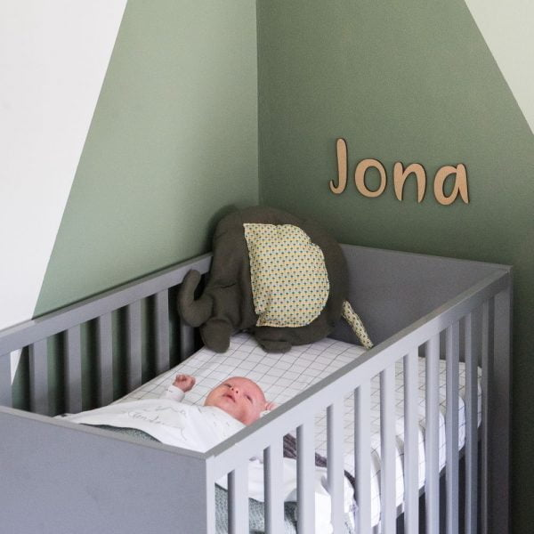 Houten letters kinderkamer - babykamer decoratie