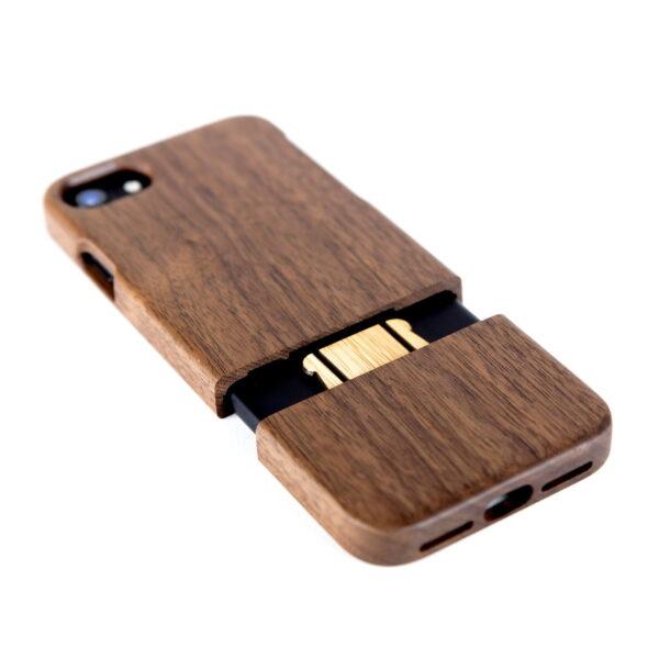 iphone 7 en 8 hoesje - houten case - houten telefoonhoes