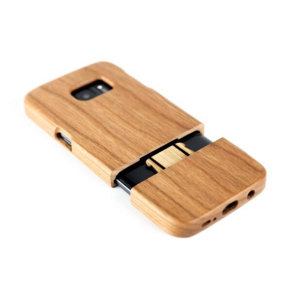 Samsung S7 hoesje - houten case - houten telefoonhoes