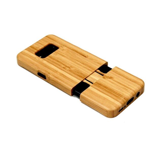 Samsung S8 hoesje - houten case - houten telefoonhoes