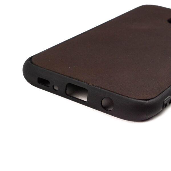 Samsung S7 Edge hoesje - leren case - leren telefoonhoes
