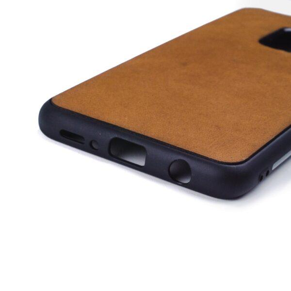 Samsung S9 hoesje - leren case - leren telefoonhoes