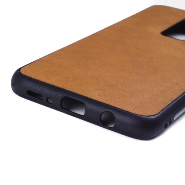 Samsung S9 PLUS hoesje - leren case - leren telefoonhoes