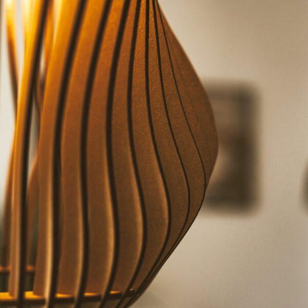 houten lamp lasergesneden - Vortex
