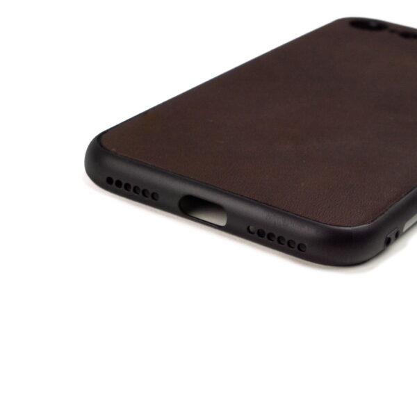 Iphone 7 en 8 hoesje - leren case - leren telefoonhoes