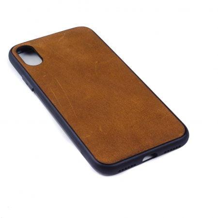 Iphone X hoesje - leren case - leren telefoonhoes