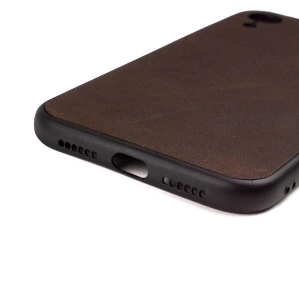 Iphone XR hoesje - leren case - leren telefoonhoes