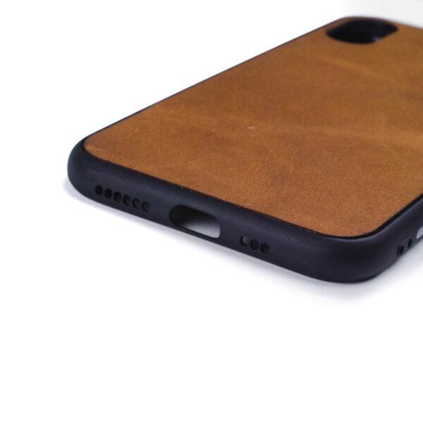 Iphone XS hoesje - leren case - leren telefoonhoes