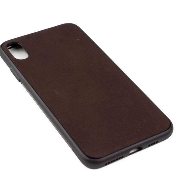 Iphone XS MAX hoesje - leren case - leren telefoonhoes