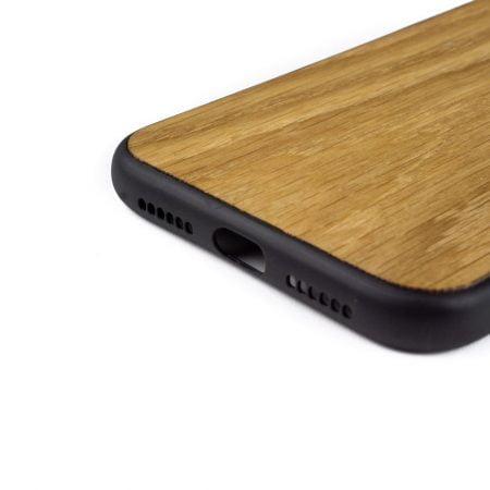 iphone 11 hoesje - bumper case - houten telefoonhoes