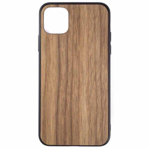 iphone 11 pro max hoesje - bumper case - houten telefoonhoes